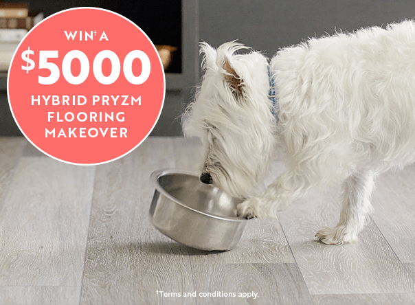 Win up to $5K of Hybrid Pryzm flooring