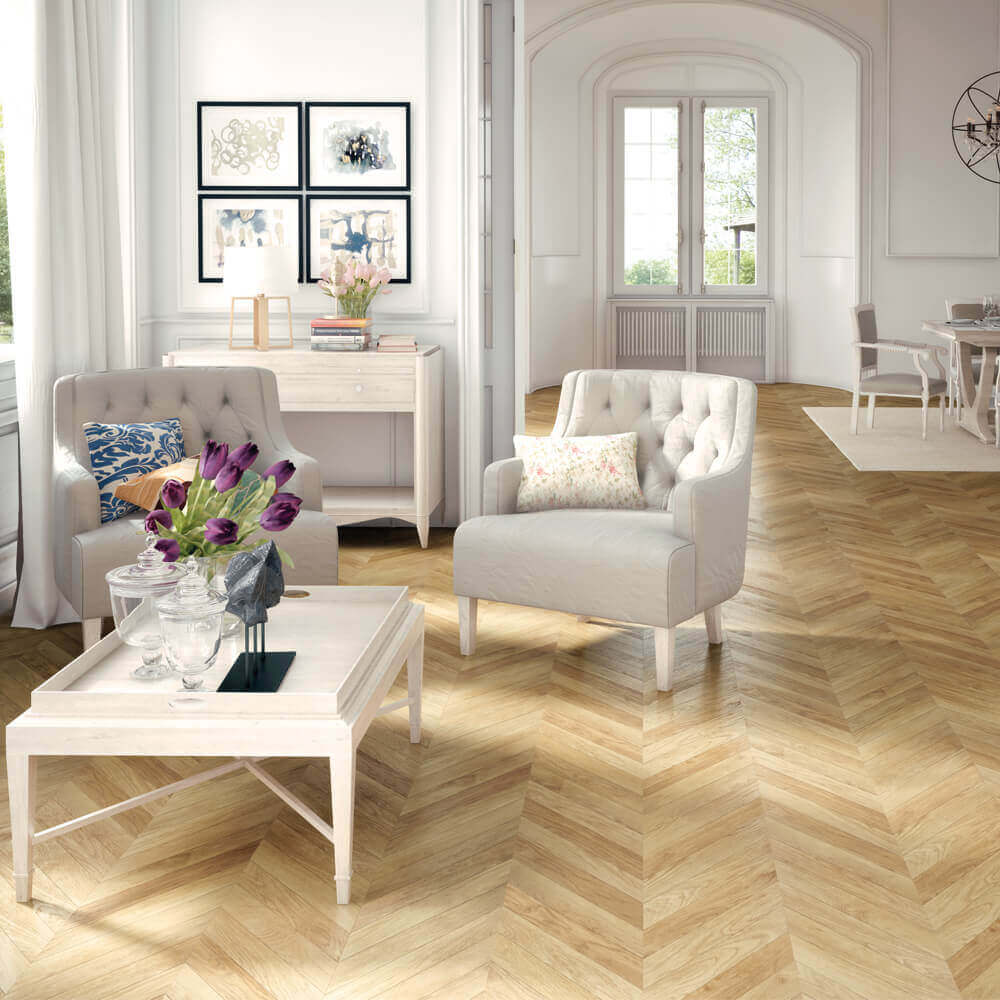 Masterpieces| Herringbone Flooring | Carpet Court