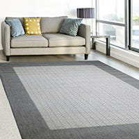Where can large rugs be used?