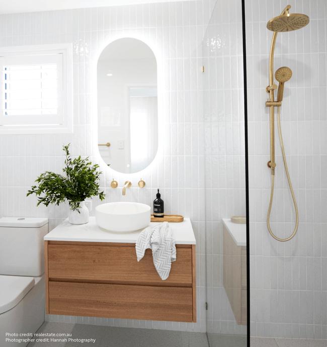 Beautiful Bathroom, Shower and Vanity