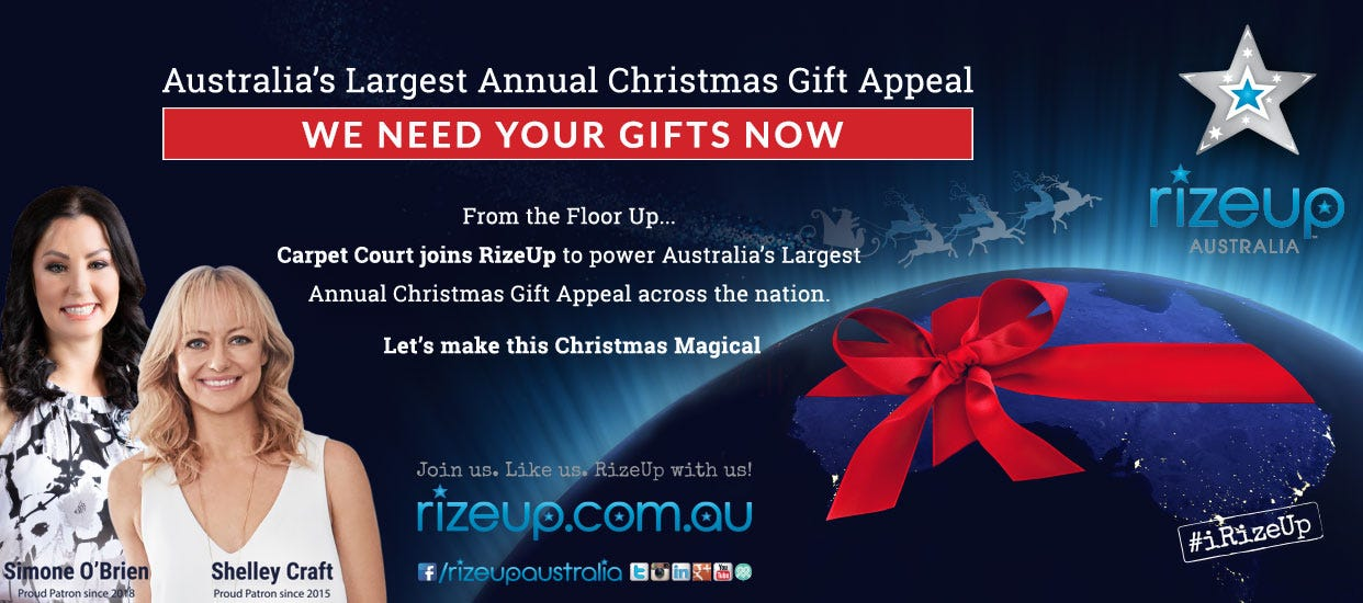 RiseUp Christmas Appeal | Carpet Court